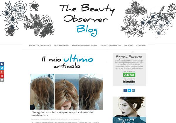 The Beauty Observer blog